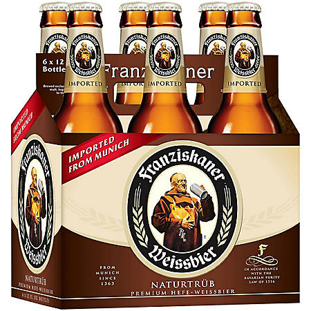 Franziskaner Hefe-Weisse Beer (12 fl. oz. bottle, 6 pk.)