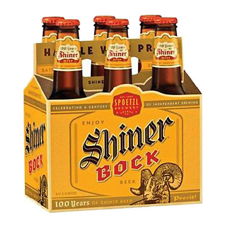 SHINER BOCK 6 / 12 OZ BOTTLES