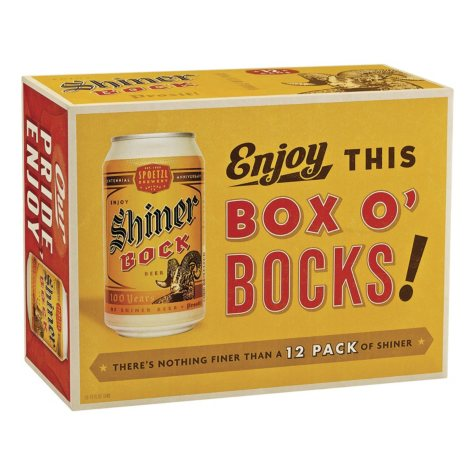 SHINER BOCK 12 / 12 OZ CANS