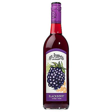 St. James Winery Blackberry Sweet Wine (750 ml)