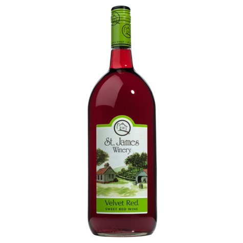 St. James Velvet Red Sweet Red Wine (1.5 L)