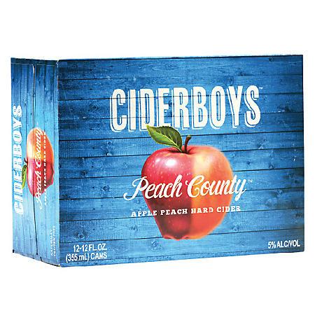 Ciderboys Seasonal Peach Country Hard Cider (12 fl. oz. can, 12 pk.)