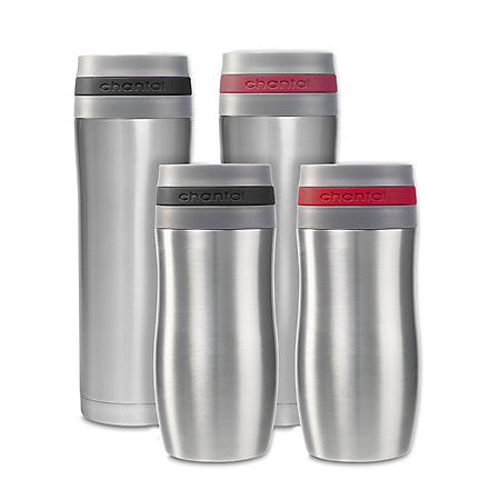 Chantal Travel Mugs, Set of 4