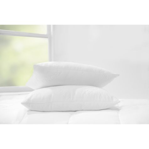 Sleep Renew Luxury Knit Cover Down-Alternative Pillows (2-Pack)