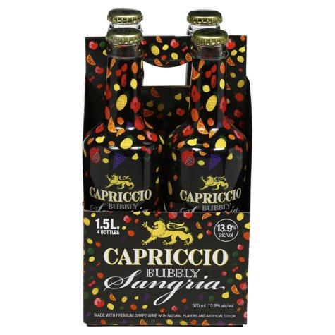 Capriccio Bubbly Sangria (1.5 L bottle, 4 pk.)