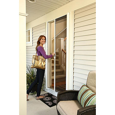 Retractable Screen Door White