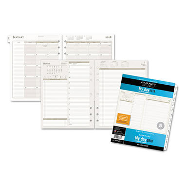 AT-A-GLANCE Day Runner® Two-Pages-Per-Day Planning Pages Refill, 8 1/2