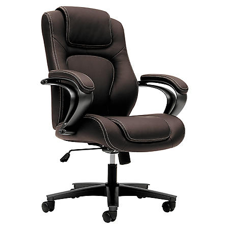basyx VL402 Series Executive High-Back Chair, Brown