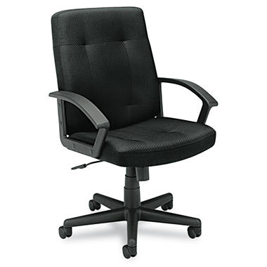 basyx by HON - VL602 Managerial Mid- Back Chair - Black Fabric