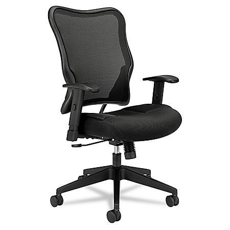 basyx by HON - VL702 High- Back Swivel/Tilt Work Chair - Black Mesh