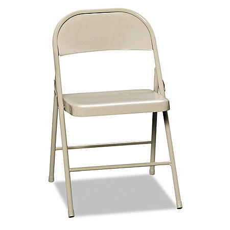 HON - All-Steel Folding Chairs, Light Beige - 4Pack