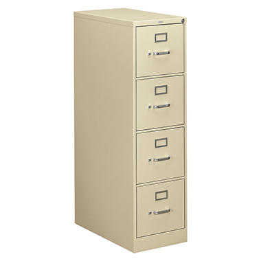 "HON 26 ½"" 310 Series 4-Drawer Letter File Cabinet, Putty"