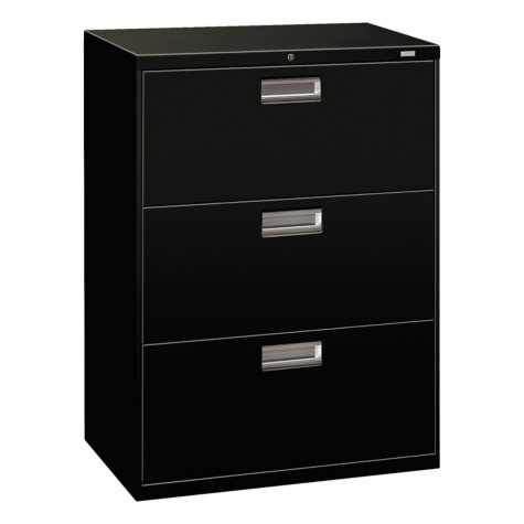 "HON 30"" 600 Series 3-Drawer Lateral File Cabinet, Select Color"