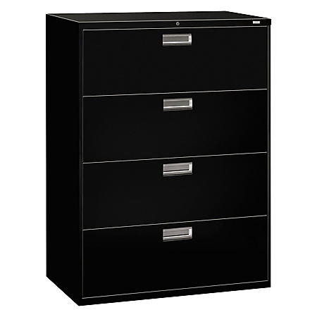"HON 42"" 600 Series 4-Drawer Lateral File Cabinet, Select Color"