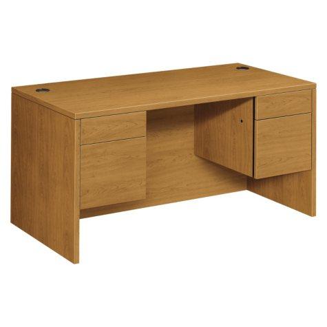 HON - 10500 Series 3/4-Height Double Pedestal Desk - Harvest