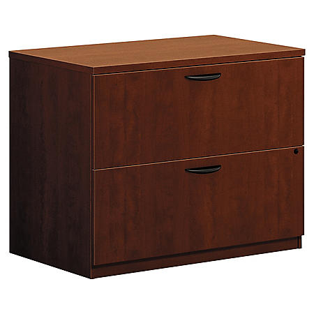 "basyx by HON - BL Laminate Lateral 2-Drawer File Cabinet, Medium Cherry (Letter/Legal, 35¾"" Width)"