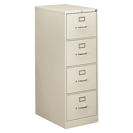 "HON 26½"" 310 Series 4-Drawer Legal File Cabinet, Light Gray"