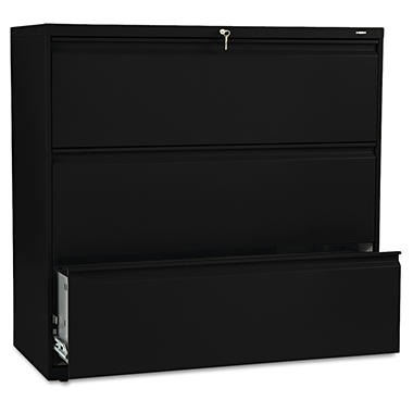 HON - 800 Series Lateral File Cabinet, 3-Drawer, Letter/Legal, 42