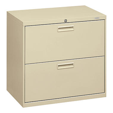 """hon 30"""" 500 series 2-drawer letter/legal lateral file cabinet"""