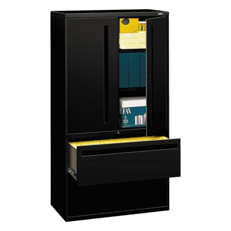 "HON 36"" Wide 700 Series Lateral File with Storage Cabinet, Select Color"