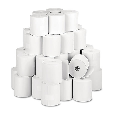 "Iconex Direct Thermal Printing Thermal Paper Rolls, 3.13"" x 273 ft, White, 50/Carton"