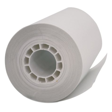 """PM Company Single Ply Thermal Cash Register/POS Rolls, 2 1/4"""" x 55 ft., White, 50ct."""