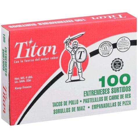 Titan Entremeses Surtidos - 100 ct.