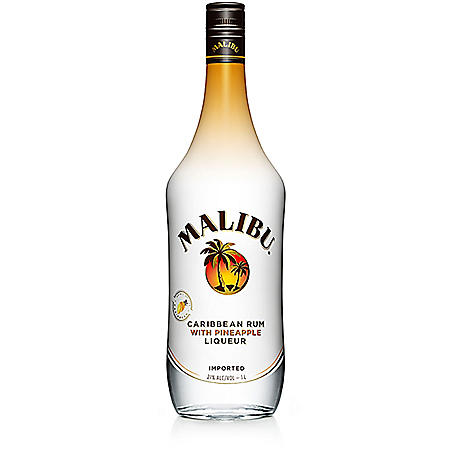 Malibu Caribbean Rum with Pineapple Liqueur (200 ml, 4 pk.)