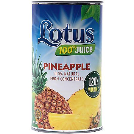 Lotus Pineapple Juice - 46 oz. - 12 pk.