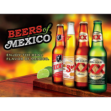 Beers of Mexico Variety Pack (12 fl. oz. bottle, 12 pk.)