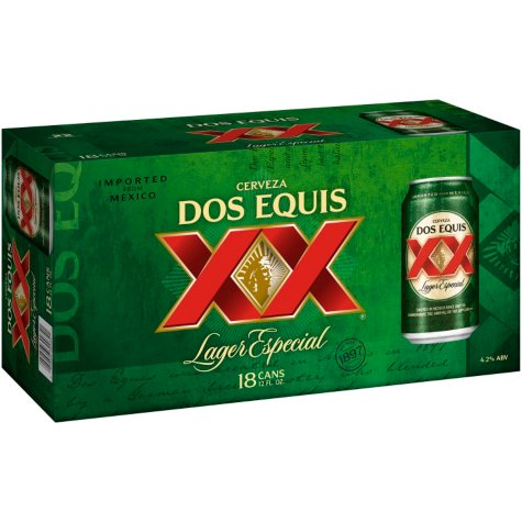 DOS EQUIS LAGER 18 / 12 OZ CANS