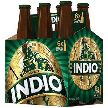 Indio Beer (12 fl. oz. bottle, 6 pk.)