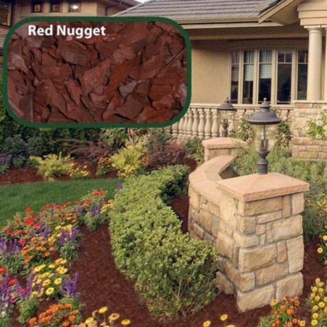 Majestic Rubber Mulch Nuggets - 1 bag- Red