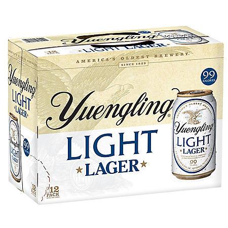 Yuengling Light Lager (12 fl. oz. can, 12 pk.)
