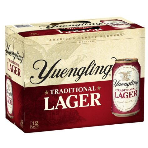 Yuengling Lager Beer (12 oz. can, 12 pk.)