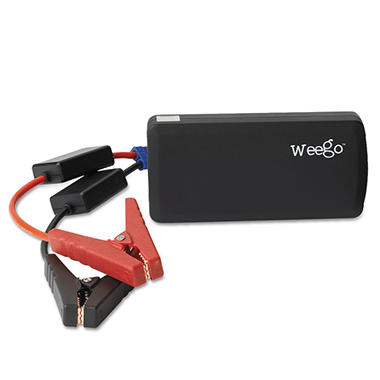 Weego Jump Starter Battery Pack+, 12000 mAh - Black