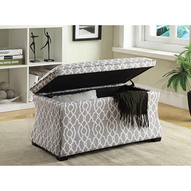 Hourglass Storage Ottoman (Various Colors)