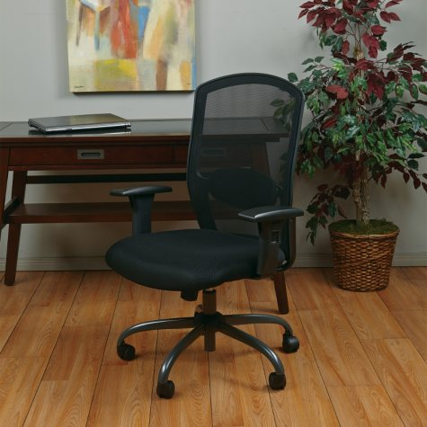 Office Star - Screen-Back Chair - Titanium