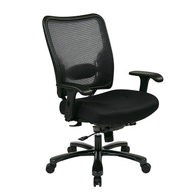 Big Man's Double Air Grid Back and Mesh Seat Chair