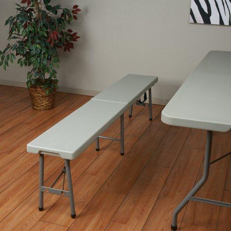 Work Smart Fold In Half Bench - 6' - White
