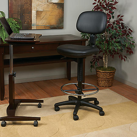 Work Smart Sculptured Seat and Back Vinyl Drafting Chair