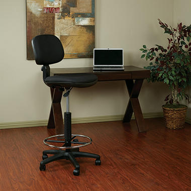 Work Smart Sculptured Seat and Back Drafting Chair