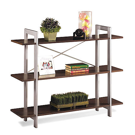 OSP Home Furnishings X-Text 3-Tier Bookshelf with Espresso Laminate