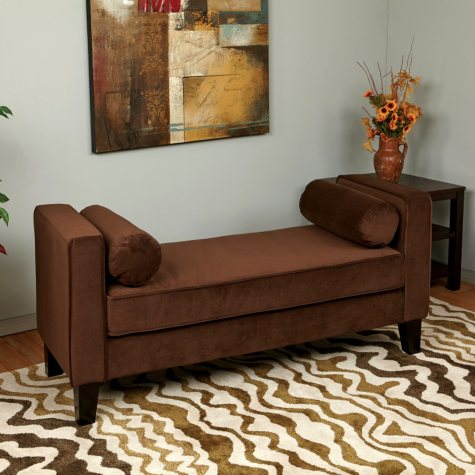 Ave Six Curves Bench - Chocolate Velvet