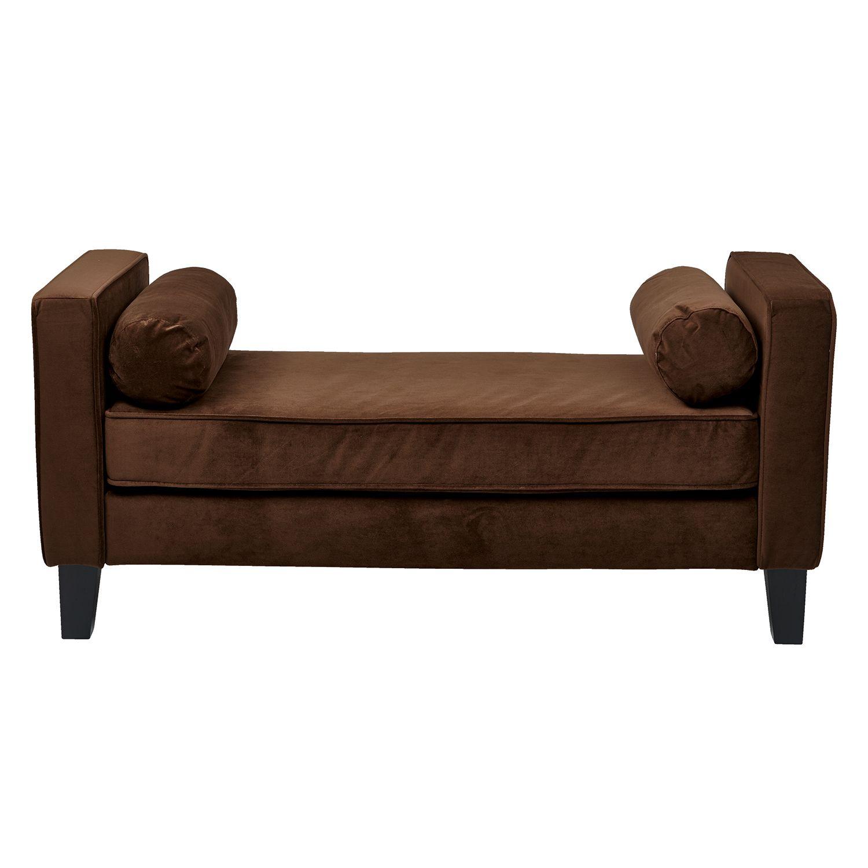 Sams Club Bedroom Furniture Avenue Six Curves Bench Chocolate Velvet Sams Club
