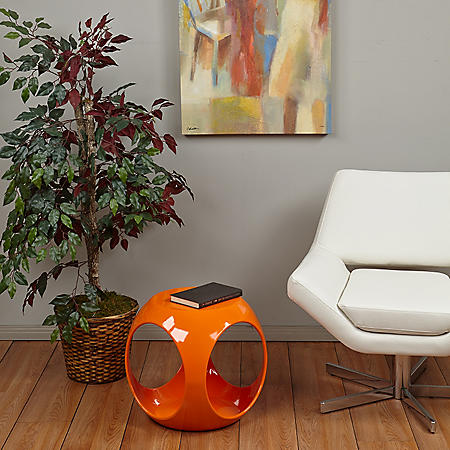 Ave Six Slick Cube Occasional Table - Orange