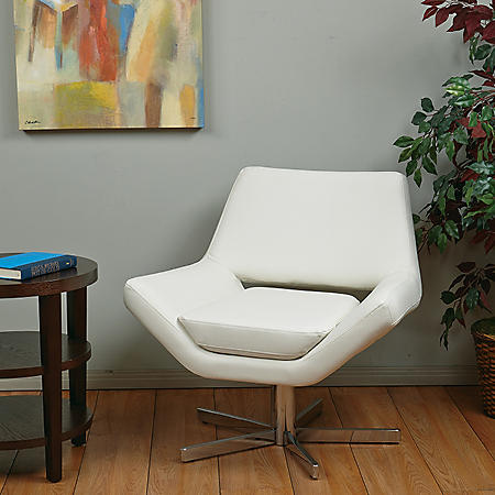 """Ave Six Yield 31"""" Wide Chair - White Vinyl"""