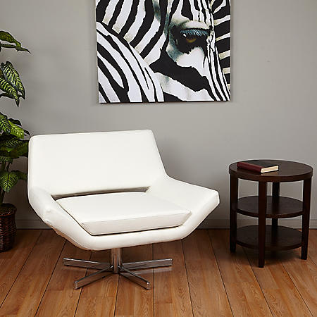 """Ave Six Yield 40"""" Wide Chair - White Vinyl"""