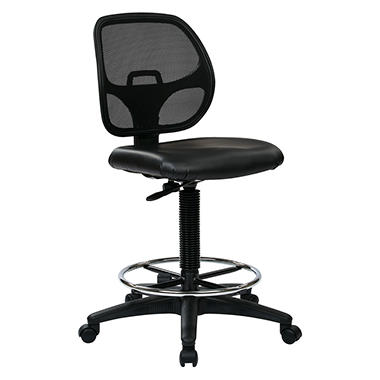 Work Smart Deluxe Mesh Back Drafting Chair With 20