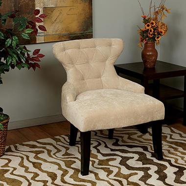 Beau Avenue Six Curves Hourglass Chair   Vintage Linen